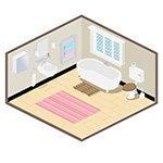 Isomatric Rooms - Barclays - Bathroom